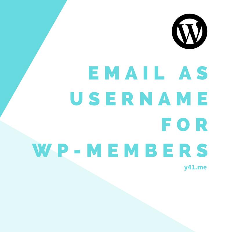 WP-Members:ユーザー名の代わりにメールアドレスでユーザー登録できるようにする方法